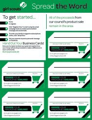 Spread the Word Business Cards - Girl Scout Council - Colonial Coast