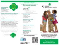 Military Brochure - Girl Scout Council - Colonial Coast