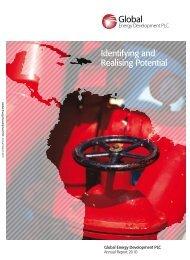 Annual Report 2010 - Global Energy Development