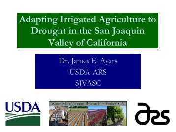 Adapting Irrigated Agriculture to Drought in the San Joaquin ... - CNAS