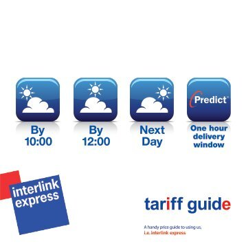Download our Tariff Guide - Interlink Express