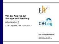 Von der Analyse zur Strategie - CB-Log
