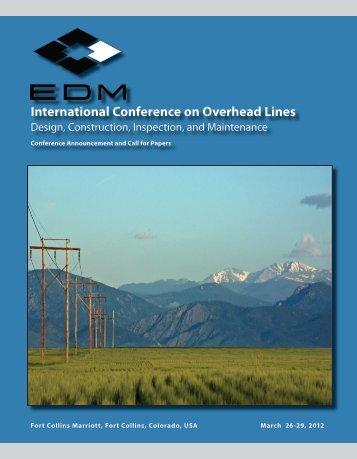 International Conference on Overhead Lines - EDM International, Inc.