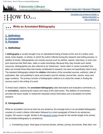 easy annotated bibliography