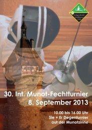 30. Int. Munot-Fechtturnier 8. September 2013 - Fechtgesellschaft ...