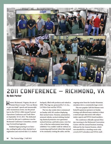 2011 ConferenCe - National Tactical Officers Association