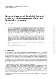 Structural causes of the global financial crisis: a critical assessment ...
