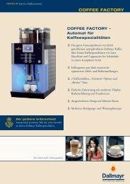 COFFEE FACTORY - Dallmayr