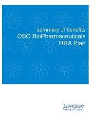 Oso BioPharmaceuticals HRA 2013 - Lovelace Health Plan