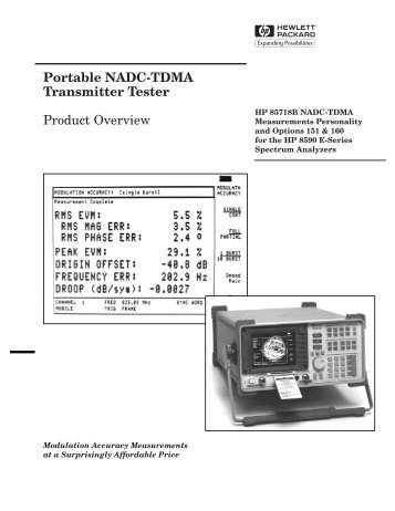Portable NADC-TDMA Transmitter Tester Product Overview - TestMart