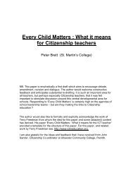 Every Child Matters and Citizenship - Citized