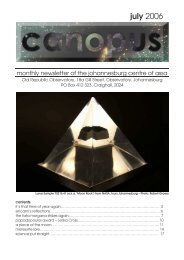 Canopus DIGITAL July 2006 - Astronomical Society of Southern Africa