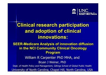 Clinical research participation and adoption of clinical innovations: