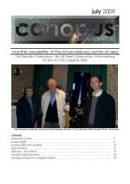 Canopus July 2009 - Astronomical Society of Southern Africa