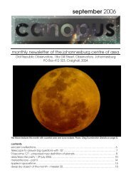 Canopus September 2006 - Astronomical Society of Southern Africa