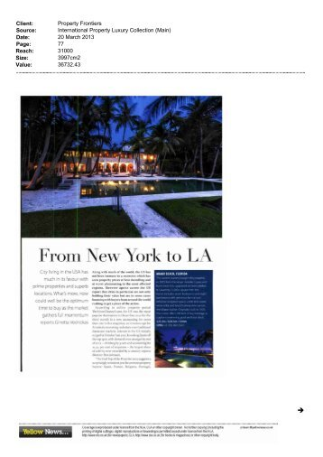 From New York to LA From New York to LA ... - Property Frontiers