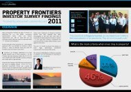Investor Survey - Property Frontiers