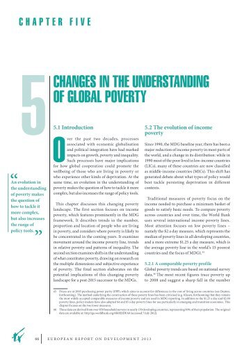 CHANGES IN THE UNDERSTANDING oF GLoBAL PoVERTY