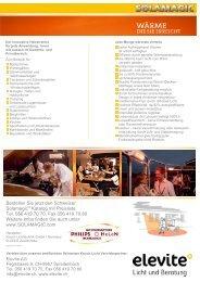Bestellen Sie jetzt den Schweizer Solamagic Katalog ... - Elevite AG
