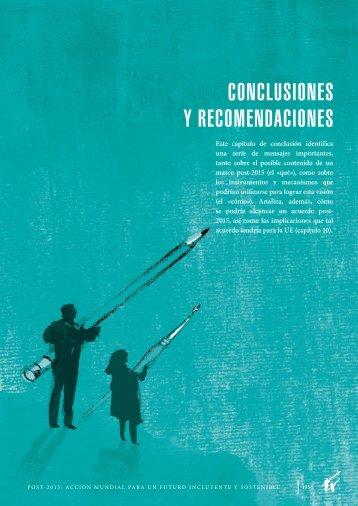 conclusiones y recomendaciones - European Report on Development