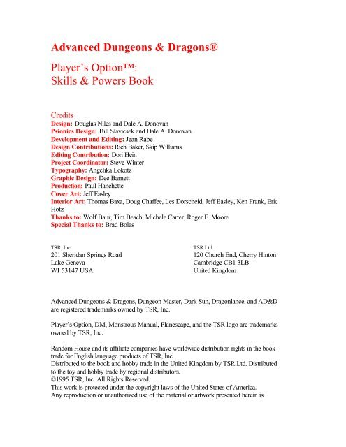 players option - skills and powers pdf - Spillklubben