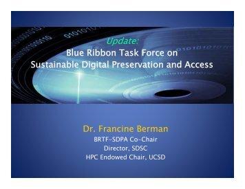 Update: - Blue Ribbon Task Force on Sustainable Digital ...