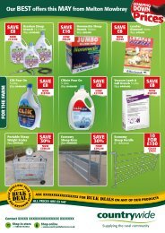 Monthly Farming Offers - Countrywide Farmers