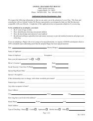 Adoption Application - Dog - Animal Crackers Pet Rescue