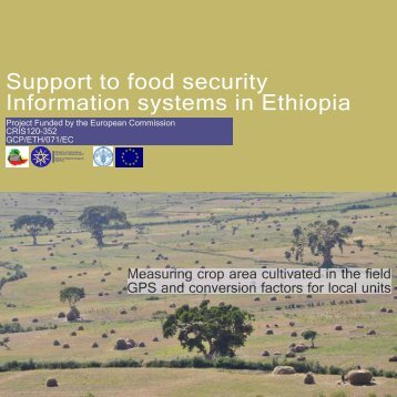 Support to food security Information systems in Ethiopia - CSA