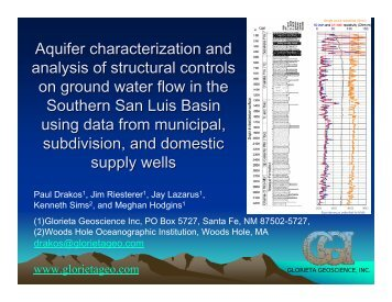 Aquifer characterization and analysis of structural controls on ...