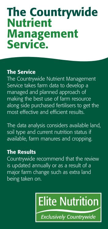 Nutrient Management - Countrywide Farmers