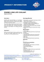 ESKIMO LONG LIFE COOLANT - Countrywide Farmers