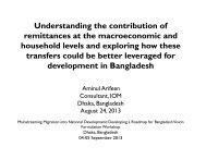 Understanding the contribution of remittances at the ... - IOM