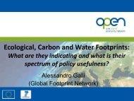 Presentation 3: Introduction to Footprint Family Indicators