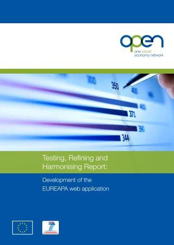 Testing, Refining and Harmonising Report: - One Planet Economy ...