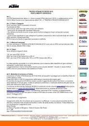 Regolamento Trofeo Motocross 2010 (PDF - 117 Kb) - KTM Sport Italia