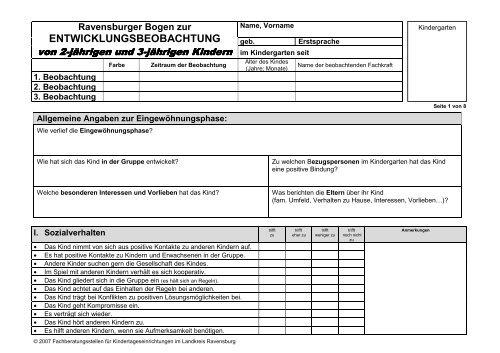 ravensburger entwicklungsbogen
