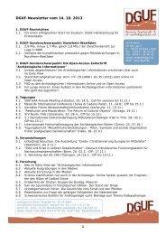 DGUF-Newsletter vom 14. 10. 2013 - Deutsche Gesellschaft für Ur