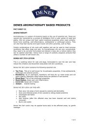 denes aromatherapy based products - Denes Natural Pet Care