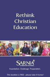 ARNIA SCHRISTIAN SCHOOL Rethink Christian Education - Sarnia ...