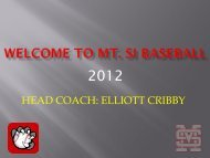 Welcome to mt. si Baseball - Mount Si High School Baseball