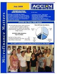 July 2008 Newsletter - ACCION San Diego