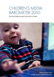 CHILDREN'S MEDIA BAROMETER 2010: - Mediakasvatus.fi