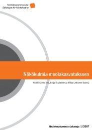 Näkökulmia mediakasvatukseen - Mediakasvatus.fi