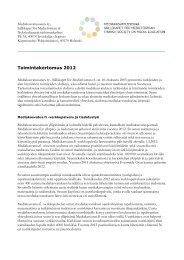 Toimintakertomus 2012 - Mediakasvatus.fi