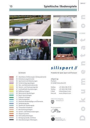 Spieltische / Bodenspiele - Silisport AG