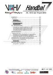 Nr. 1512 van 19 juni 2012 12 van 19 juni 2012 - vhv handbalbase