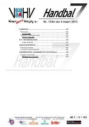 Nr. 1544 van 4 maart 4 maart 2013 - vhv handbalbase