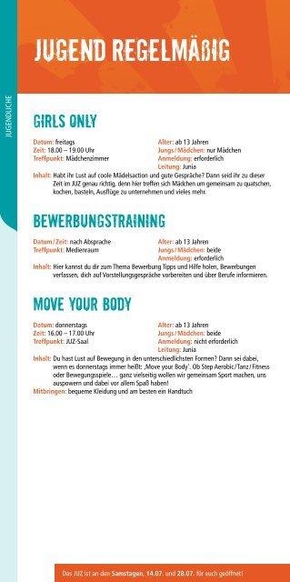 JUZ Programm juli - dezember 2012