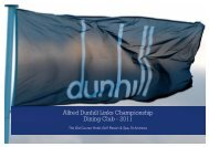 Alfred Dunhill Links Championship Dining Club - 2011